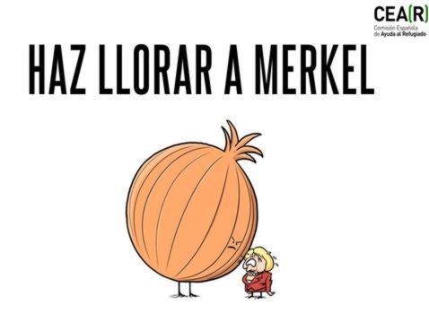 «¡Haz llorar a Merkel! ¡Envíale una cebolla!», así es la campaña contra su trato a la niña palestina