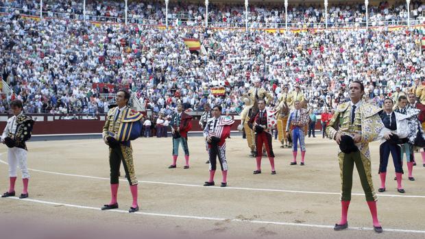 Minuto de silencio el pasado San Isidro por la muerte de El Pana