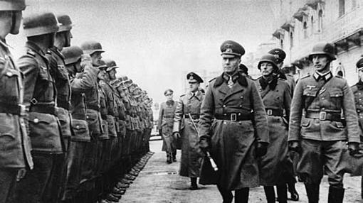 Rommel, junto a sus hombres