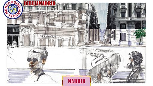 Uno de las ilustraciones presentes en la colección de Madrid de la obra «Dibujando el mundo» (2016)