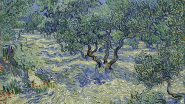 """Resultado de imagen de Los científicos descubren un saltamontes en el cuadro de Van Gogh """"Los olivos"""""""