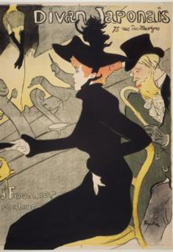 «El Diván Japonés», de Toulouse-Lautrec