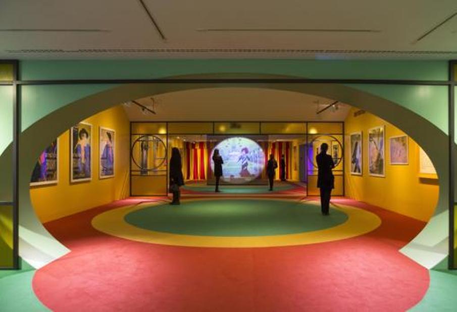 Una vista del montaje de la exposición dedicada a Toulouse-Lautrec en la Fundación Canal