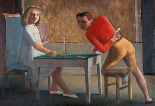 «La partida de naipes» (1948-50), de Balthus