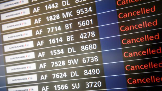 La compañía ha cancelado previamente el 20% de los vuelos programados para este martes