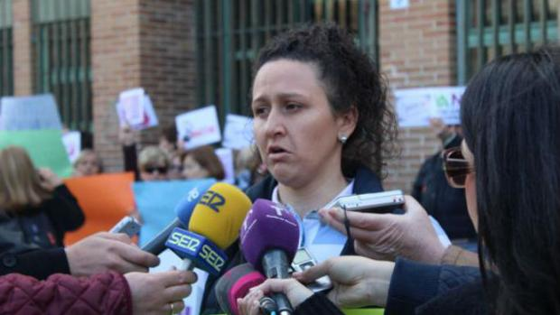 Susana Guerrero hace declaraciones a los medios