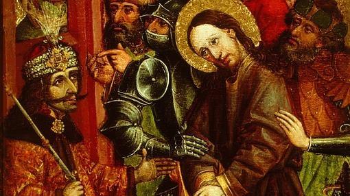 Vlad «el Hijo del Dragón» retratado como Pilatos en una escena bíblica