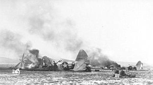 Aviones destruídos durante la operación