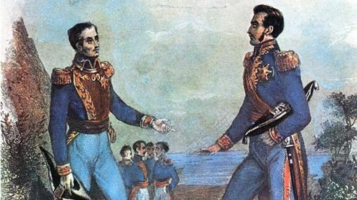Entrevista de Guayaquil entre José de San Martín y Simón Bolívar.