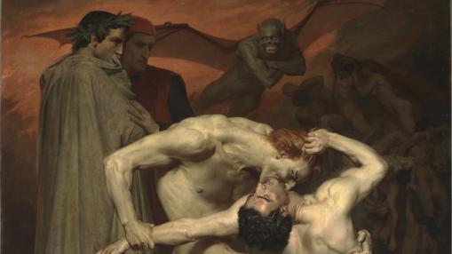 """""""Dante y Virgilio en el infierno"""", William Adolphe Bouguereau"""