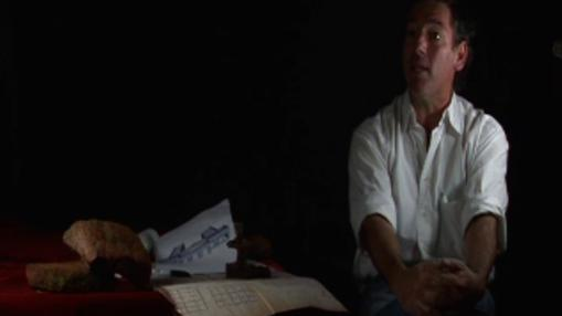Grigera, durante el rodaje del documental de Clavero