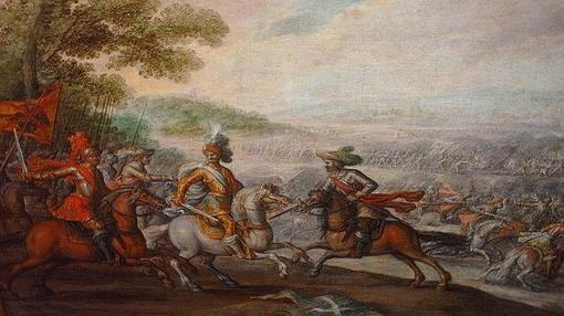 Pintura clásica de la batalla de Pavía
