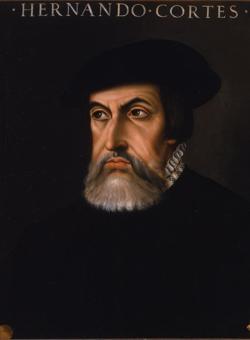 Retrato de Hernán Cortés basado en el enviado por el conquistador a Paulo Giovi