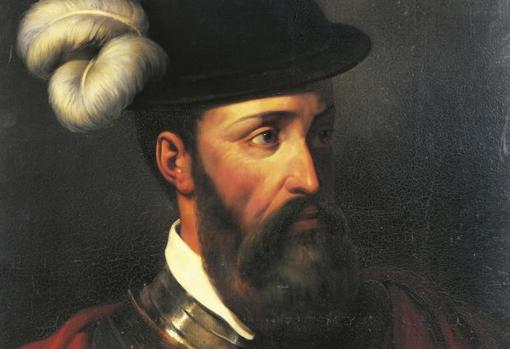 Retrato moderno de Francisco Pizarro basado en las descripciones físicas de los textos