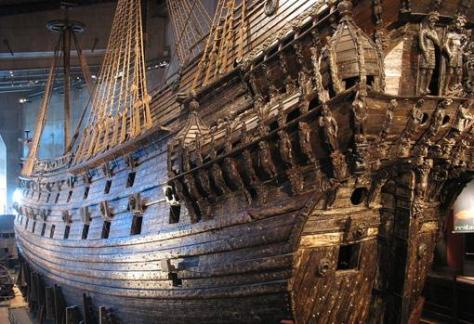 Estado actual de el buque hundido en el siglo XVII
