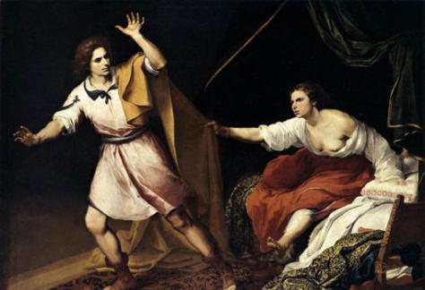 Pintura de Murillo titulada «José y la mujer de Putifar», fechada en 1645