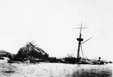 El pecio del USS Maine en 1898