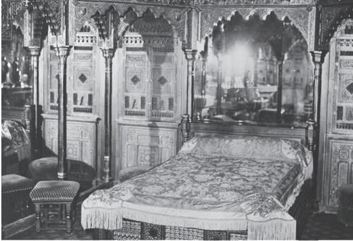 Una de las habitaciones del burdel
