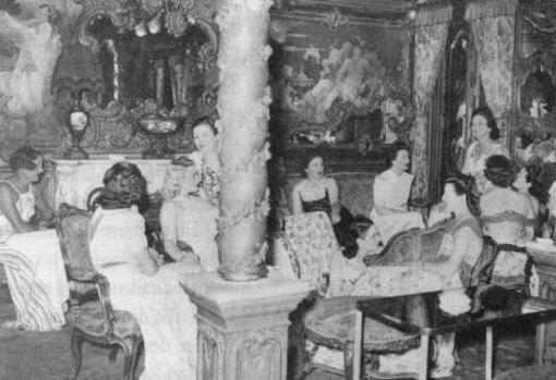 Prostitutas en «Le Chabanais» durante 1940