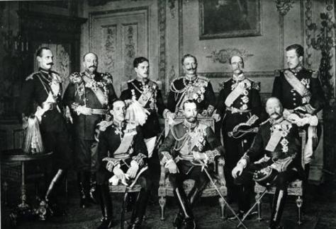 Alfonso XIII, en el palacio de Buckingham, por la muerte de Eduardo VII