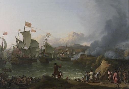 La batalla de la bahía de Vigo, 23 de octubre de 1702, de Ludolf Backhuysen