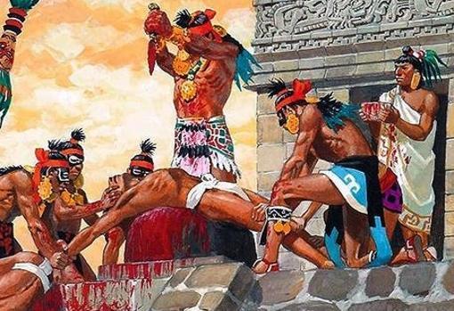 Recreación de un ritual azteca - P. Joubert
