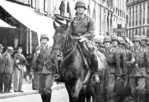 Soldados alemanes durante la Segunda Guerra Mundial
