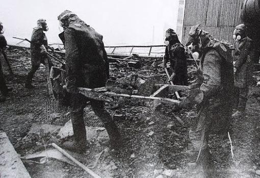 Liquidadores en Chernobil