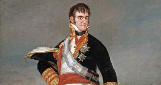 Fernando VII retratado por Francisco de Goya