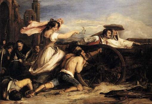 Recreación de Agustina de Aragón