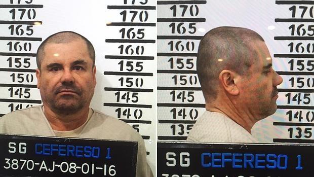 Fotografías cedida por Cefereso de la ficha del narcotraficante «El Chapo» Guzmán tras su ingreso en prisión