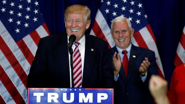 Trump sonríe durante un momento de su intervención en la Convención Repubilcana la semana pasada en Cleveland, Ohio