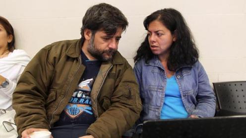 l español David de la puente y su esposa