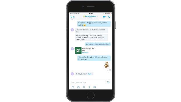 Skype permite enviar documentos de hasta 300 MB