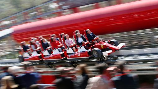 Red Force, durante la inauguración de Ferrari Land