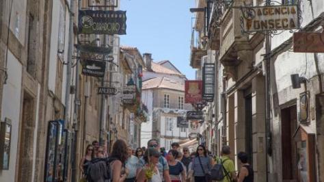 Rua Do Franco, en Santiago de Compostela