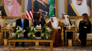 Donald Trump attends a ceremony in Saudi Arabia
