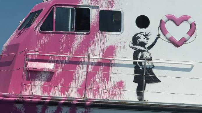 Street artist Banksy buys yacht to rescue migrants in the Mediterranean, hits out at EU authorities