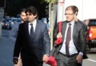 Tony Galati (left) outside the Supreme Court in Perth.