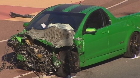 Ute driver was speeding at three times the limit when he slammed into council worker