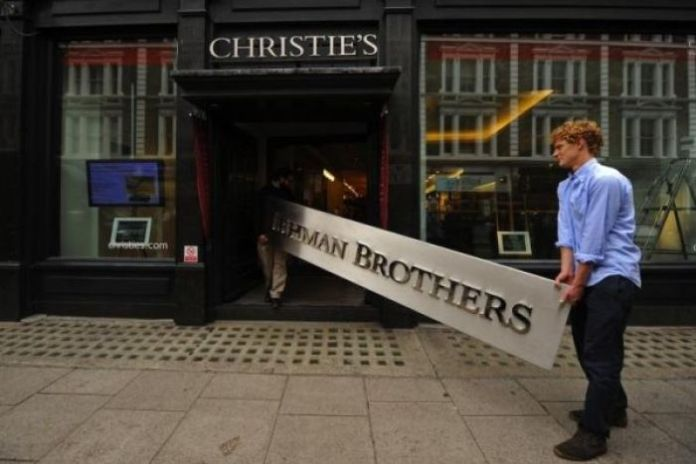 Lehman Brothers sign enters Christie's