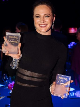 Cate Campbell won Sportswoman of the Year and Comeback of the Year at the Women's Health Women in Sport awards 2018.
