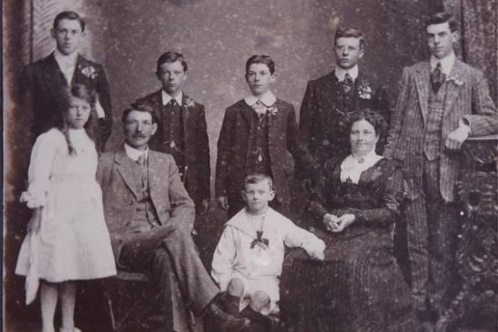 Fred Hallam and his family