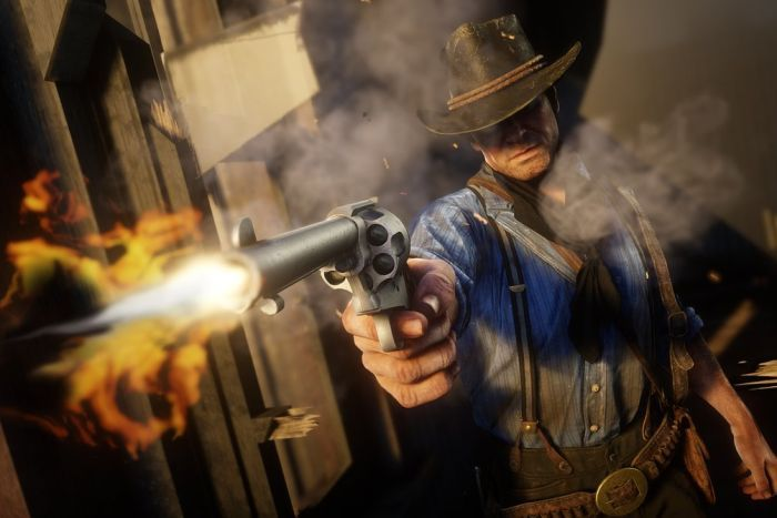 A scene from Red Dead Redemption