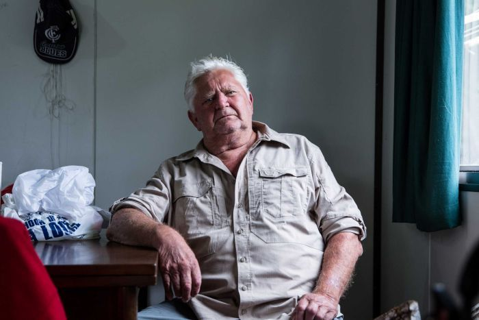 Rod Purton, 69, has been staying at the shack community since the 1970s