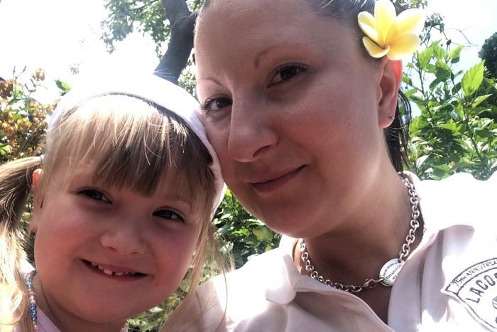 Anna Bowditch and her daughter Natalia.