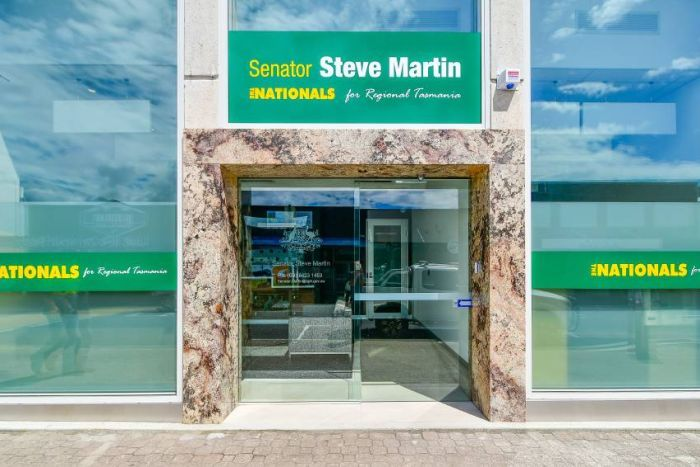The exterior of Steve Martin's Devonport electoral office.