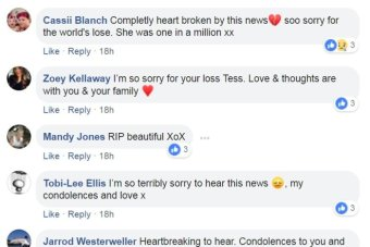 Facebook tributes to lady who died, Mary Ellen Hurley.