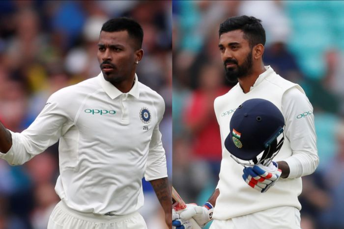 Composite photo of two Indian cricketers, Hardik Pandya and KL Rahul, in a Test series in England.