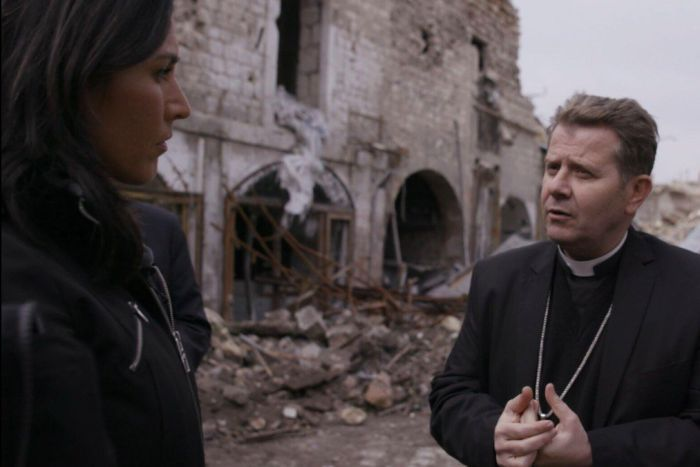 Tulsi Gabbard with Reverend Ibrahim Nseir in Syria